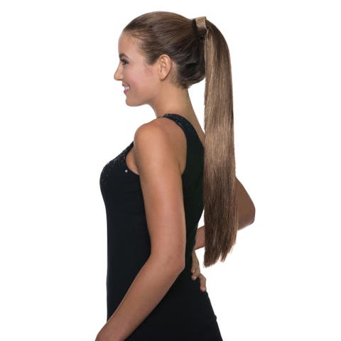 Brunette Clip On Ponytail Brown Ariana Grande Hair Pop Singer Wig Costume
