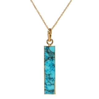 Mint Jules Turquoise Vertical Bar Pendant Necklace