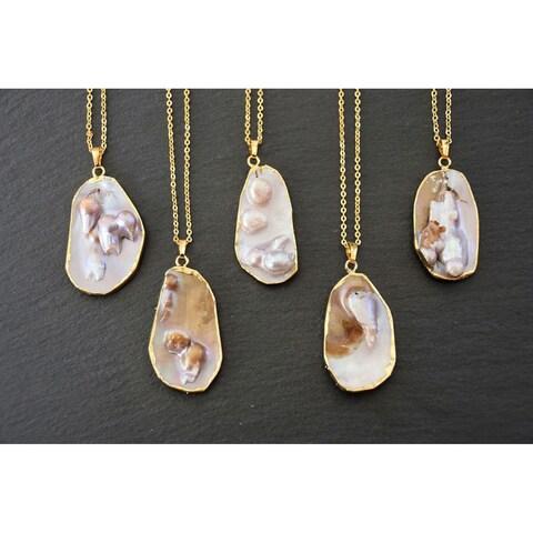 Mint Jules Mabe Natural Pearl Slice Pendant