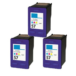 3PK HP C6657 (HP 57) Compatible Ink Cartridge For HP Officejet 4110 5510 6100 6110 (Pack of 3)