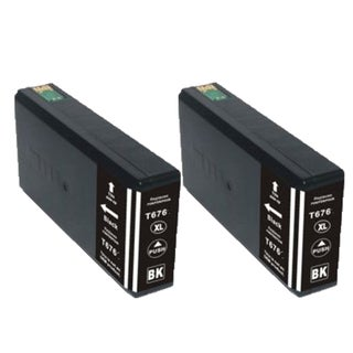 2PK ZLT676XL BK Compatible Ink Cartridge For Epson WP-4010 WP-4023 WP-4090 ( Pack of 2 )
