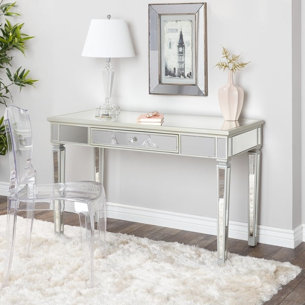 Very best Abbyson Omni Glam Mirrored Desk - Free Shipping Today - Overstock  NO07