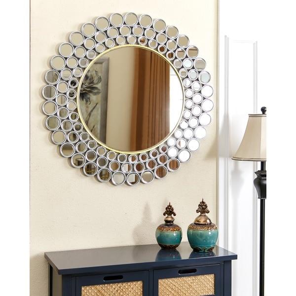 Abbyson Wilshire Round Wall Mirror