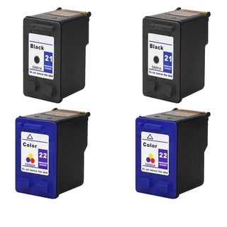 2Sets C9351A XL (HP 21) Black & C9352A XL (HP 22) Color Compatible Ink Cartridge For HP Deskjet 3930 series ( Pack of 4 )