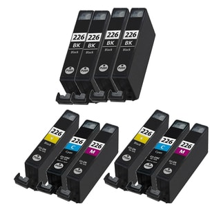 10PK CAN-226 4 BK + 2 X C Y M Compatible Ink Cartridge For Canon iP3600 iP4600 MP620 MP980 PMFP1 PMFP3 (Pack of 10)
