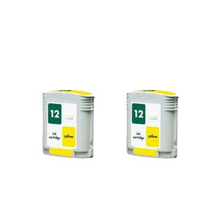 2PK C4806A HP 12 Yellow Compatible Ink Cartridge For HP Designjet 3000 ( Pack of 2 )