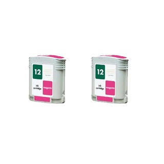 2PK C4805A HP 12 Magenta Compatible Ink Cartridge For HP Designjet 3000 ( Pack of 2 )