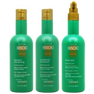 Hayashi Hinoki Shampoo, Conditioner, Plus 10.1-ounce Set