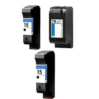 1Set+1BK HP C6615 (HP 15) Black & HP C6578DN (HP 78) Color Compatible Ink Cartridge For HP Deskjet 825C 712C ( Pack of 3 )