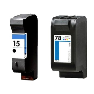 1Set HP C6615 (HP 15) Black & HP C6578DN (HP 78) Color Compatible Ink Cartridge For HP Deskjet 825C 712C ( Pack of 2 )