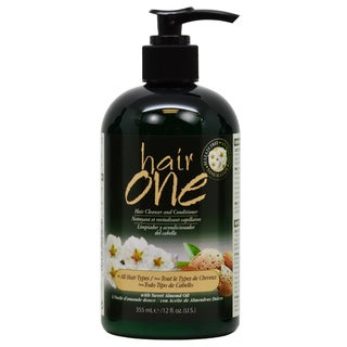 Hair One 12 oz. Cleanser and Conditioner with Sweet Almond Oil for All Hair Types