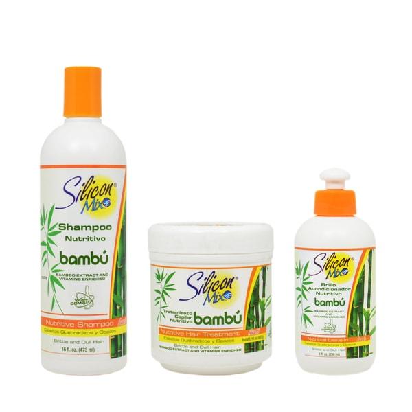 Silicon Mix Bamboo Bambu Nutritive Hair Combo Set