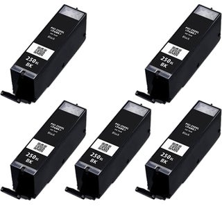 5PK CAN-PGI250 XL BK Compatible Ink Cartridge For Canon PIXMA MX300 series (Pack of 5)