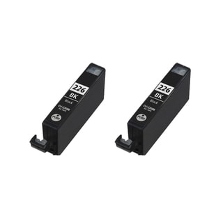 2PK CAN-226BK Compatible Ink Cartridge For Canon iP3600 iP4600 MP620 MP980 PMFP1 PMFP3 (Pack of 2)