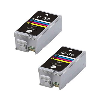 2PK CLI-36 Color Compatible Ink Cartridge For Canon iP100 PIXMA mini260 320 ( Pack of 2 )