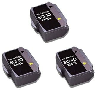 3PK BCI-10 Black Compatible Ink Cartridge For Canon BJ-30 BJCAN-70 ( Pack of 3 )