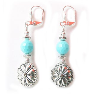 Palmtree Gems Silverton 'Dulcinea' Turquoise Bead Dangle Earrings