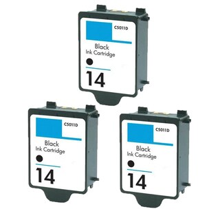 3PK C5011AN HP 14 Black Compatible Ink Cartridge For HP CP1160 Officejet D135 ( Pack of 3 )
