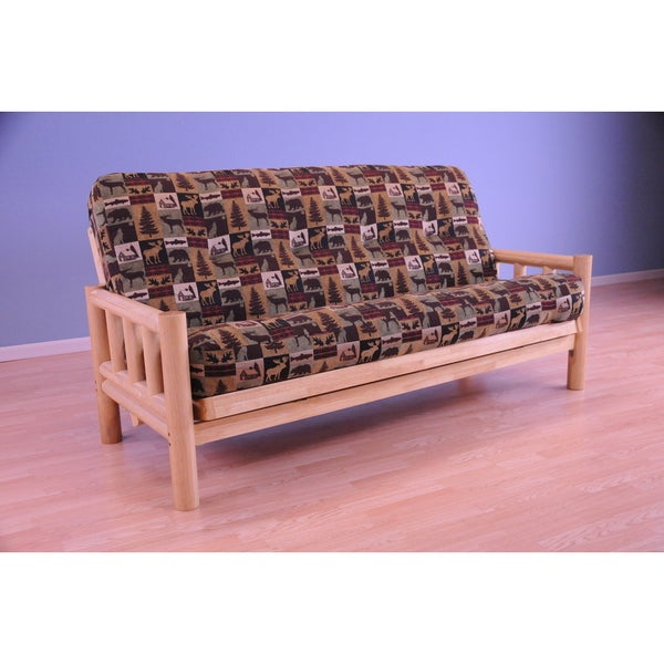 Somette Lodge Full Size Futon Set With Fairbanks Evergreen