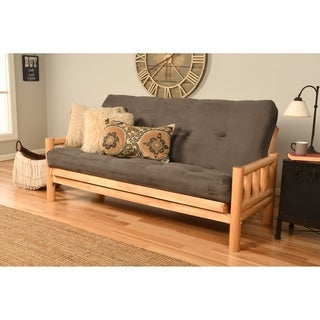 Somette Lodge Full-Size Futon Set with Suede Mattress