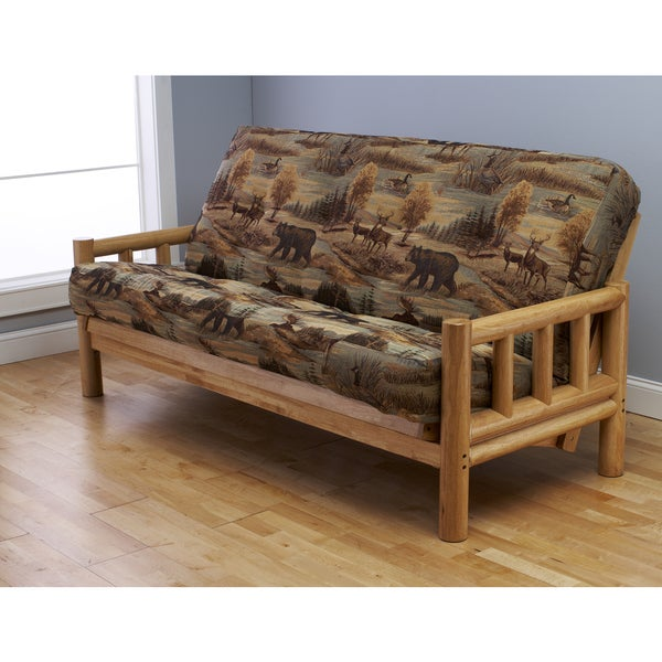 Somette Lodge Full Size Futon Set With Mattress