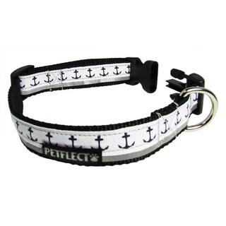 Petflect Anchors Away Reflective Dog Collar