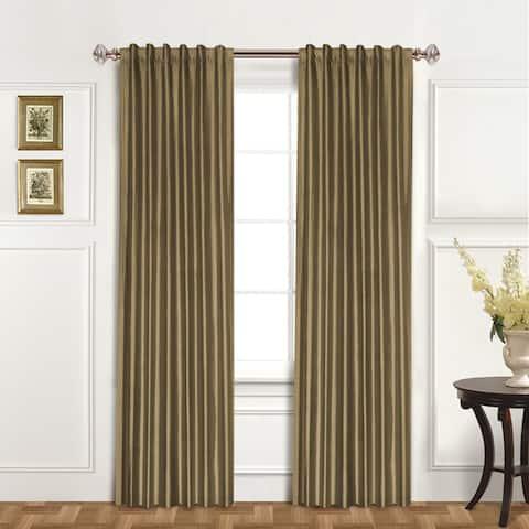 Luxury Collection Dupioni Silk Insulated Single Curtain Panel