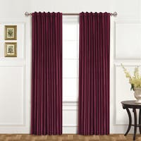 United Curtain Luxury Collection 100-percent Dupioni Silk Curtain Panel