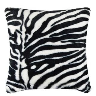Vue Zebra Faux Fur 18-inch Square Pillow