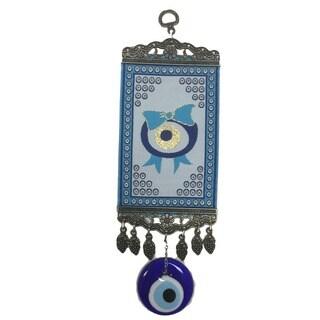 Blue Kilim Rug Evil Eye Wall Art