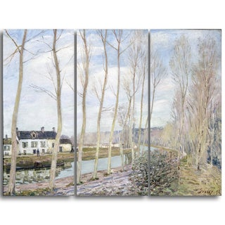 Design Art 'Alfred Sisley - The Loing's Canal' Master Piece Landscape Artwork
