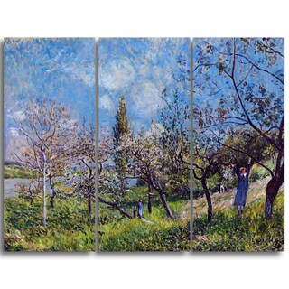 Design Art 'Alfred Sisley - Orchard in Spring' Master Piece Landscape Artwork