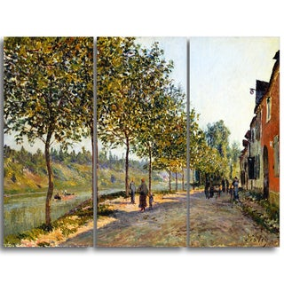 Design Art 'Alfred Sisley - June Morning in Saint-Mammès' Master Piece Landscape Artwork