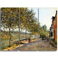 Design Art 'Alfred Sisley - June Morning in Saint-Mammès' Master Piece Landscape Artwork