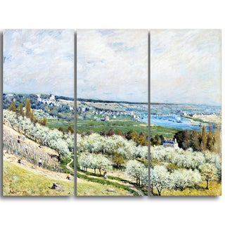 Design Art 'Alfred Sisley - The Terrace at Saint-Germain' Master Piece Landscape Artwork