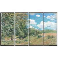 Design Art 'Alfred Sisley - Road from Versailles to Saint-Germain' Master Piece Landscape Artwork