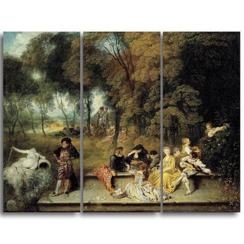Design Art 'Antoine Watteau - Pleasures of Love' Master Piece Landscape Artwork