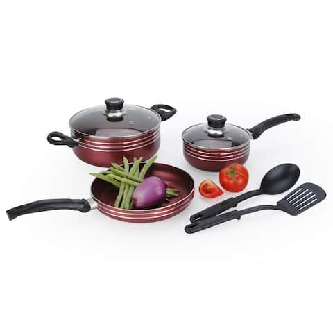 Two-Tone Aluminum 7-piece Non-Stick Cookware Set