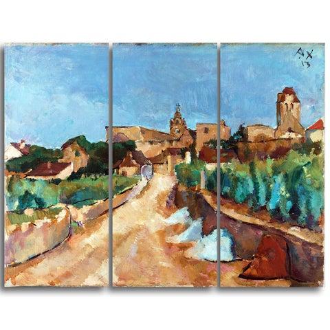 Design Art 'Anton Faistauer - Street Towards Dürnstein' Master Piece Landscape Artwork