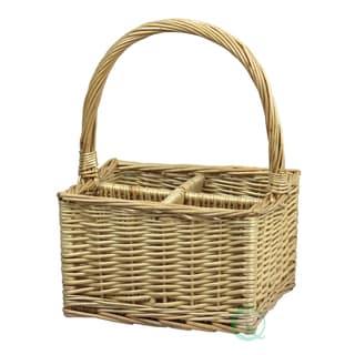 Wicker Basket Wine Bottle Holder
