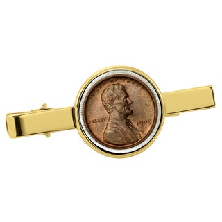 American Coin Treasures 1909 First-Year-of-Issue Lincoln Penny Goldtone Tie Clip