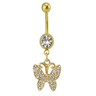 Supreme Jewelry Austrian Crystal Butterfly Belly Ring