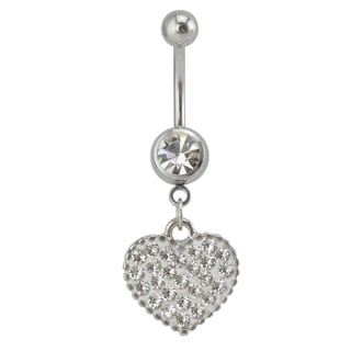 Supreme Jewelry Austrian Crystal Heart Belly Ring
