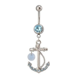 Supreme Jewelry Austrian Crystal Anchor Belly Ring