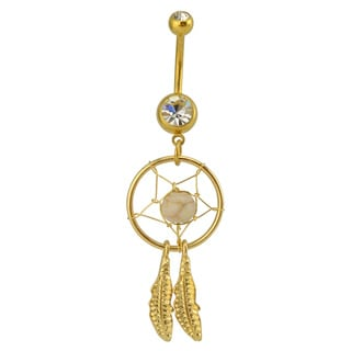 Supreme Jewelry Austrian Crystal Dream Catcher Belly Ring