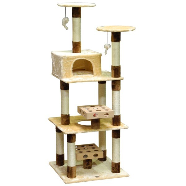 GoPetClub IQ Busy Box 73.5-inch Cat Tree House