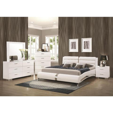 Strick & Bolton Nash 6-piece White Bedroom Set