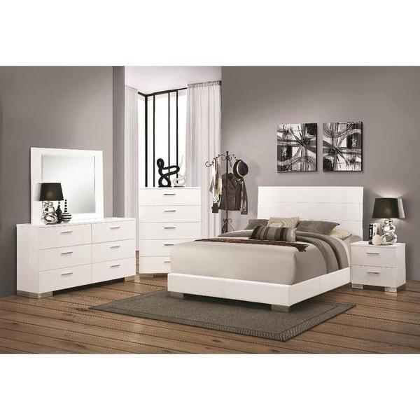 Oliver U0026amp; James Nash 6 Piece White Bedroom Set