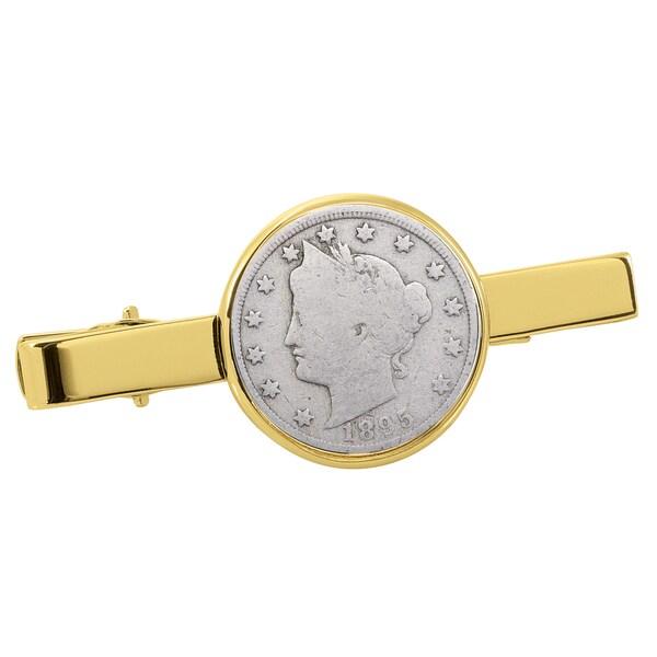 American Coin Treasures 1800's Liberty Nickel Goldtone Tie Clip