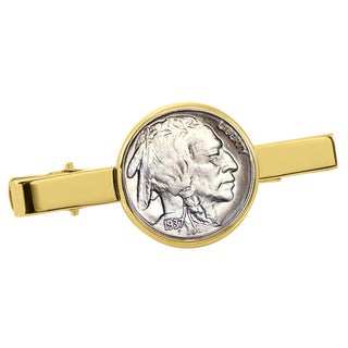 American Coin Treasures Buffalo Nickel Goldtone Tie Clip
